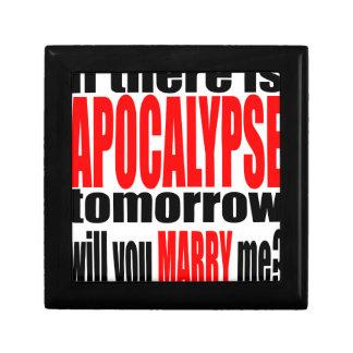 pickup line apocalypse tomorrow marriage proposal small square gift box