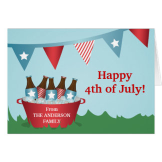 Picnic 4th of July Greeting Card