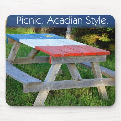 Picnic. Acadian Style. Mouse Pad