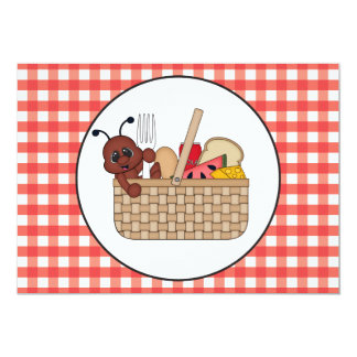 Picnic Ant party add words Invitation