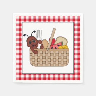 Picnic ant party paper napkins