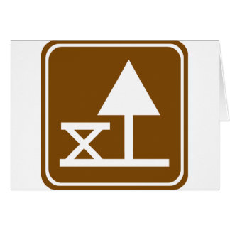 Picnic Area Highway Sign Card