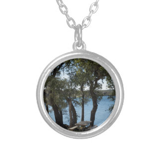 Picnic at the Lake Silver Plated Necklace
