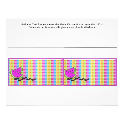 Picnic BarBQ Party BBQ Custom Candy Bar Wrappers Flyers