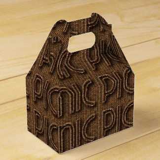 Picnic Basket Funny Wicker Look Typography Party Wedding Favour Box