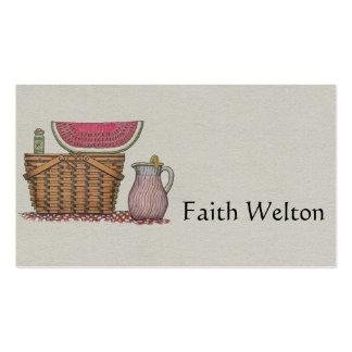 Picnic Basket Watermelon Business Card Templates