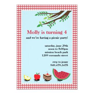 Picnic Birthday Party Invitation