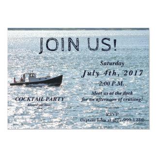 "Picnic Boat 5"" x 7"" Invitation / Flat"