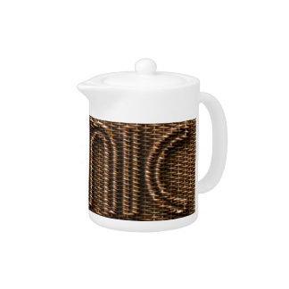 Picnic Funny Wicker Style Typography Brown