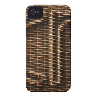 Picnic Funny Wicker Style Typography Brown iPhone 4 Case-Mate Cases