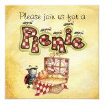 picnic invite 13 cm x 13 cm square invitation card