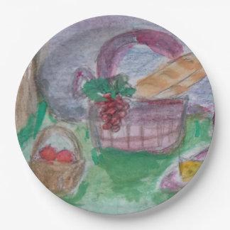picnic joys paper plate