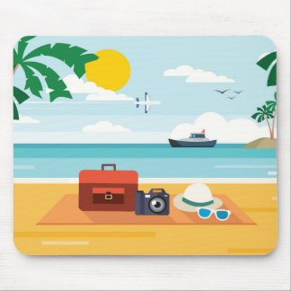Picnic on the beach mousepad