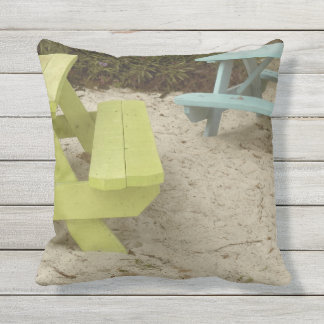 Picnic on the Beach Outdoor Pillow