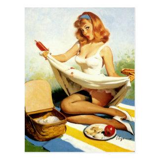 Picnic Pin-Up Postcard