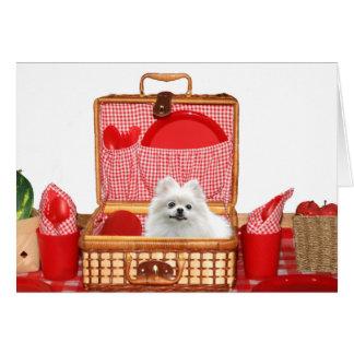 Picnic Pomeranian Card