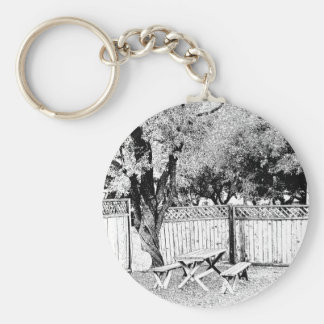 Picnic Table at the Campground Key Ring