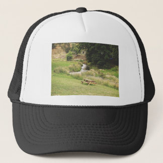 Picnic table trucker hat
