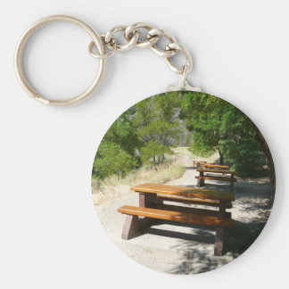 Picnic Tables in the Park Key Ring