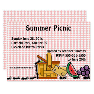 Picnic Thieves, Marching Ants Party Invitation