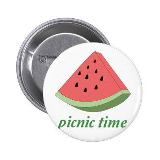 Picnic Time 6 Cm Round Badge