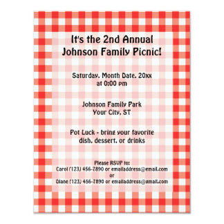 Picnic Time Card