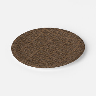 Picnic Wicker Look Typography Paper Party Plates 7 Inch Paper Plate