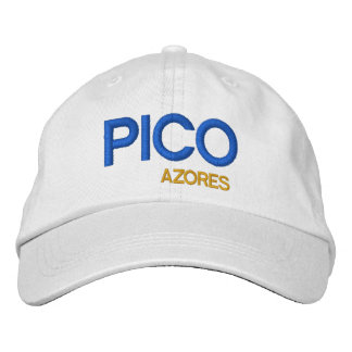 Pico* Azores Colorful Hat  Pico Açores chapeau Embroidered Hats