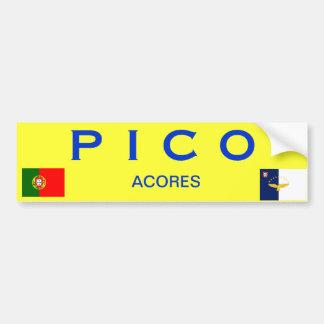 PICO* Azores Islands Bumper Sticker Car Bumper Sticker