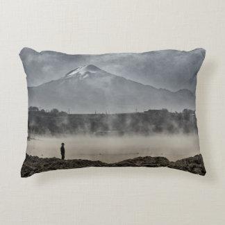 Pico De Orizaba From Achichic Lake In Puebla Accent Cushion