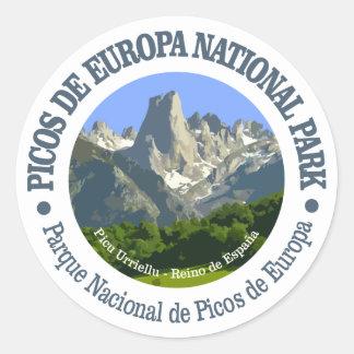 Picos de Europa National Park Classic Round Sticker