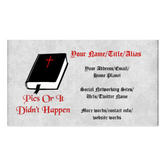 Pics Or It Didn't Happen Double-Sided Standard Business Cards (Pack Of 100)