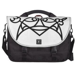 Pictish crescent and v-rod laptop messenger bag