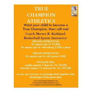 Picture1, TRUE CHAMPION ATHLETICS, Coach Martez... 21.5 Cm X 28 Cm Flyer