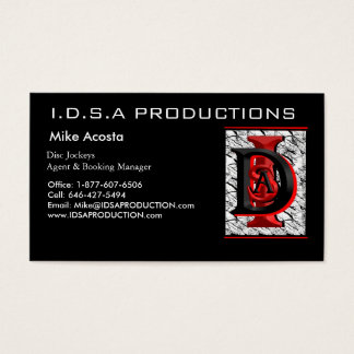 Picture 002, I.D.S.A PRODUCTIONS , Mike Acosta ... Business Card