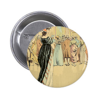 Picture Exhibition at the Salon 1800 6 Cm Round Badge