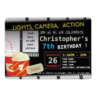PICTURE MOVIE BIRTHDAY PARTY INVITATION