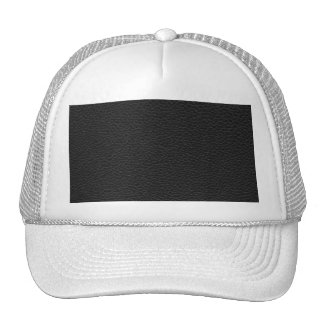 Picture of Black Leather. Trucker Hat