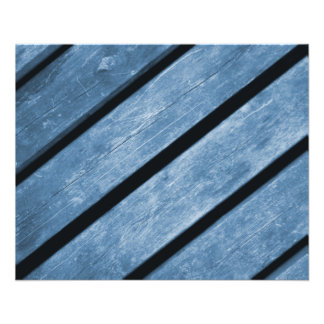 Picture of Blue Wood Planks 11.5 Cm X 14 Cm Flyer