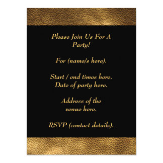 Picture of Brown Leather. 17 Cm X 22 Cm Invitation Card