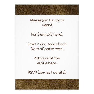 Picture of Brown Leather Custom Invites