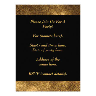 Picture of Brown Leather Personalized Announcement