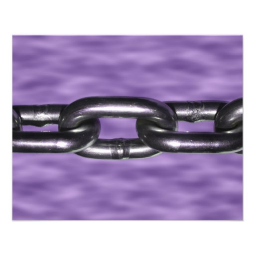 Picture of Chain on Purple Background Flyer