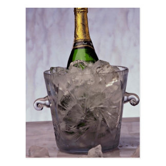 Picture of Champagne in glass ice bucket Postcard