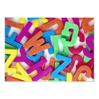 Picture of Colorful plastic letters 5x7 Paper Invitation Card