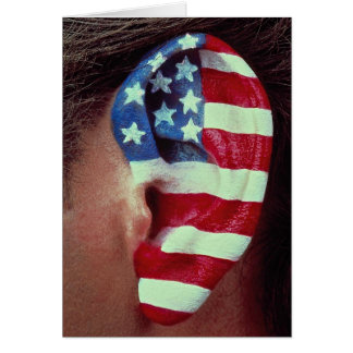 Picture of Ear, painted American flag Cards