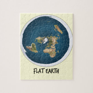 Picture Of Flat Earth Puzzle