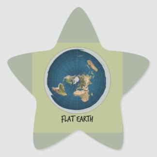 Picture Of Flat Earth Star Sticker