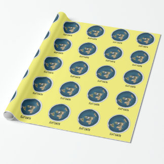 Picture Of Flat Earth Wrapping Paper