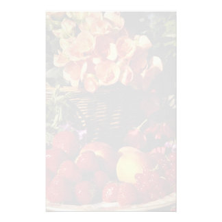 Picture of Fruit and flowers Custom Stationery